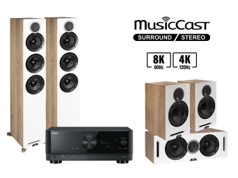Yamaha RX-V6A + ELAC Debut Reference F5 + Debut Reference B6 + Debut Reference C5 Zestaw Kina Domowego